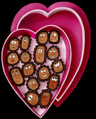 Valentine Chocolates with Funny Faces