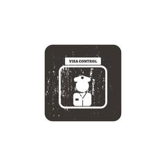 Passport control icon