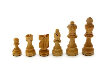 Schachfiguren weiß