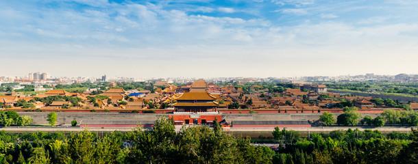 Foto op Plexiglas Beijing Panorama mit Blick vom
