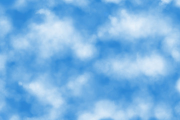 illustration of white clouds in blue sky