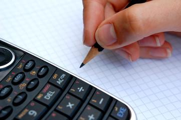 Mathematik Hausaufgaben mit Taschenrechner