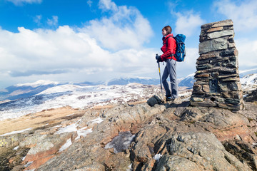 Winter mountain walking.