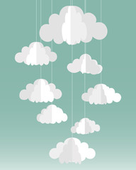 Vector paper clouds