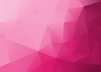 Obraz Abstract Low Poly Pink Background  - fototapety do salonu