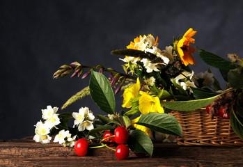 Kwiaty i owoce wz ogrodu