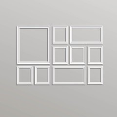 Vector Blank Picture Frame Template Composition