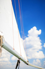 Travel Concepts: Mast of the Yacht On Sea