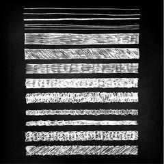 hand drawn chalkboard lines