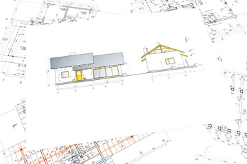 architectural project of new house