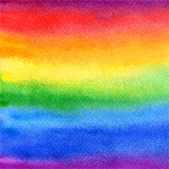 vector watercolor abstract rainbow background in colorful and br