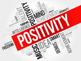 Positivity word cloud, business concept