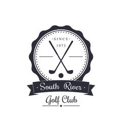 Golf club vintage logo, emblem, vector illustration, eps10