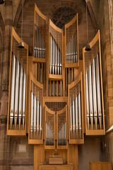 church organ pipes, Nuremberg, Germany
