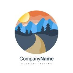 Vacation Travel logo icon vector
