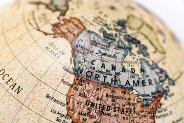 地球儀 カナダ
