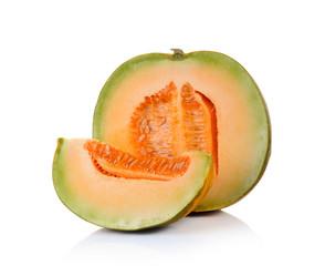 Thai cantaloupe melon on white background