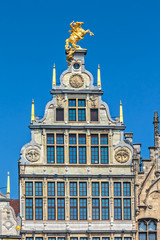 Ancient guild house in Antwerp center, Belgium