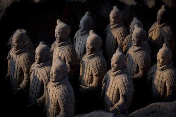 Spoed Foto op Canvas Xian Terracotta warriors 1