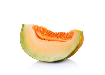 Thai cantaloupe melon isolate on white background