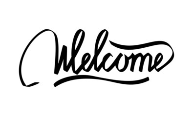 Welcome hand lettering calligraphy