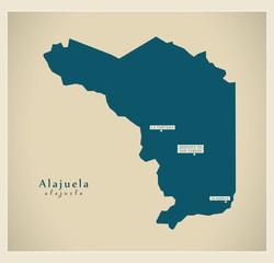 Modern Map - Alajuela CR