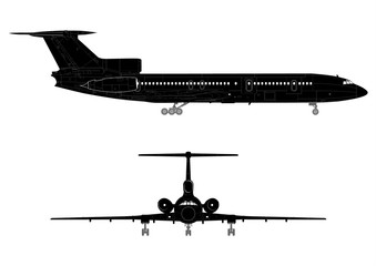 Hi-detail jet silhouette