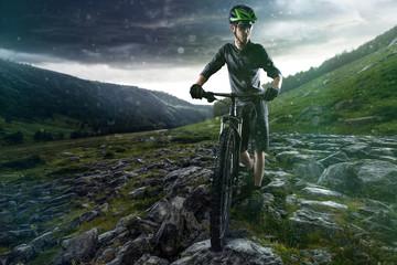 Exhausted Biker