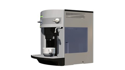 coffee machine isolated on white background
