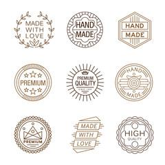 Retro Design Insignias Logotypes , Hand Made