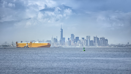 cargo ship at New York