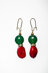 natural stone beads earrings