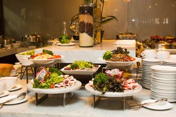 Variety of fresh salads.