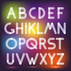 Multiply geometric elements letters. Design elements