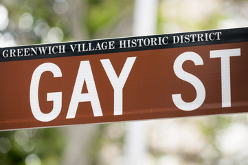 Gay Street Sign from Greenwich Village NYC