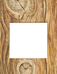 Blank white paper on the wooden