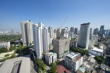 Sprawling Urban Skyline of Bangkok Thailand