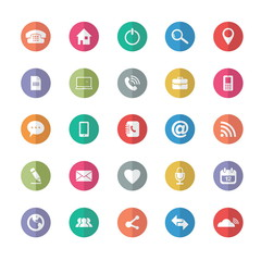Flat design. Universal Outline Icons For Web and Mobile