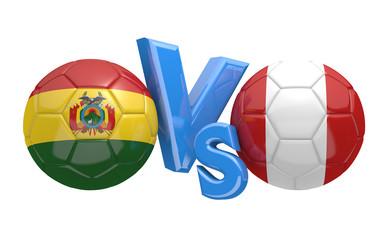 Soccer competition, national teams Bolivia vs Peru