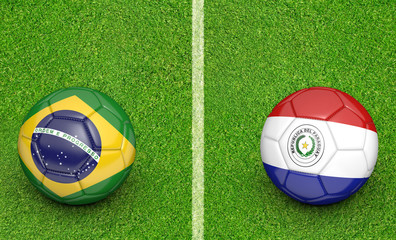 2015 soccer tournament, teams Brazil vs Paraguay