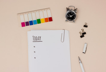Time management: day planning with to do list