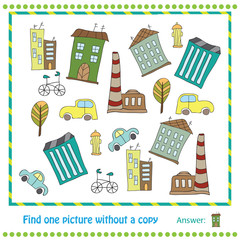 Illustration Educational Game for Children - find picture