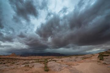 Rain Storm over the Desert Utah Landscape