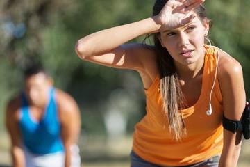 Runner, tired, break.