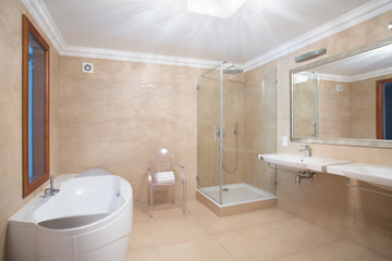 Elegant spacious bathroom