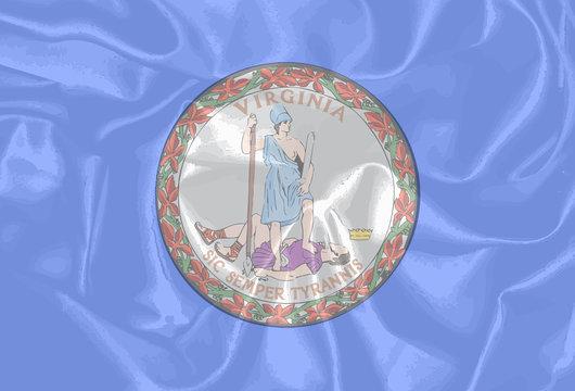 Virginia State Silk Flag