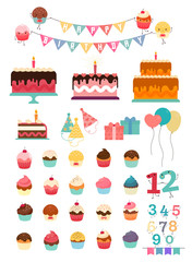 Big set of Premium Quality Birthday Party elements