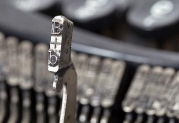 B hammer - old manual typewriter