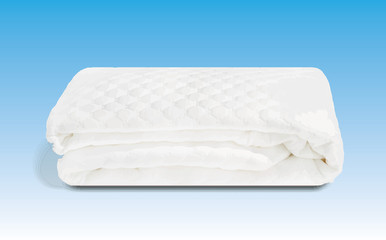 Vettorial of Padded mattress cover in cotton handmade in Italy