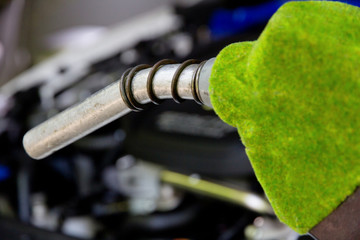Fill up the gas tank, eco energy concept